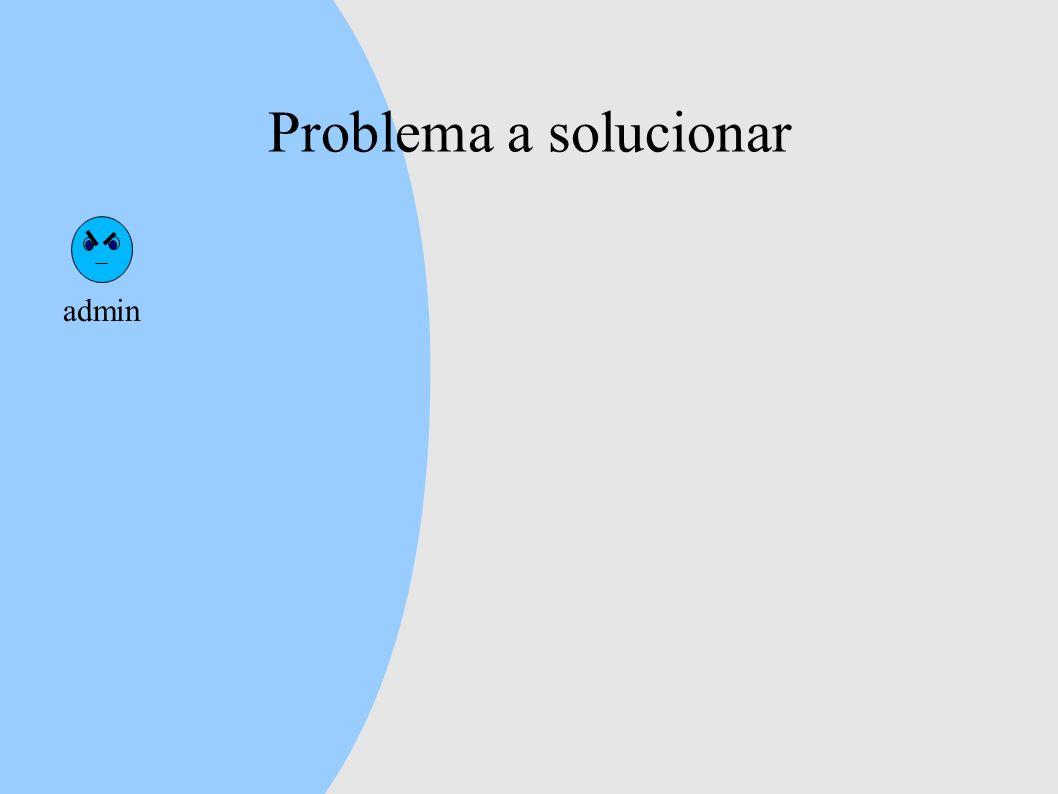 Problema a solucionar admin