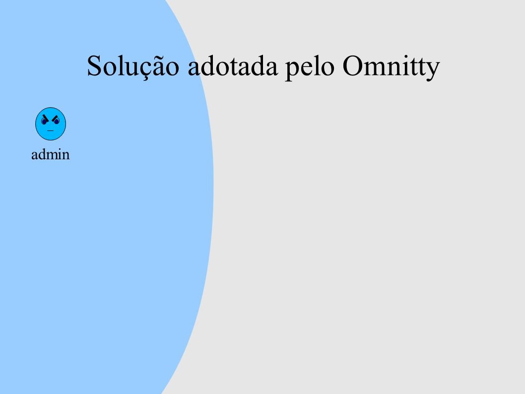 Solução adotada pelo Omnitty admin