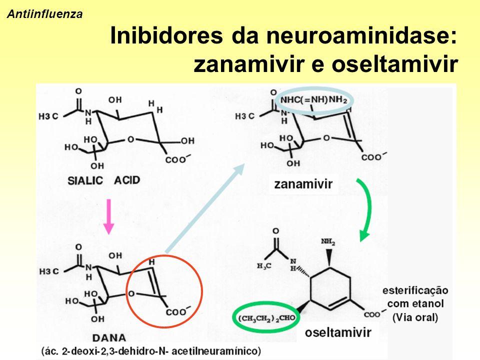 Antiinfluenza Inibidores da neuroaminidase: zanamivir e oseltamivir
