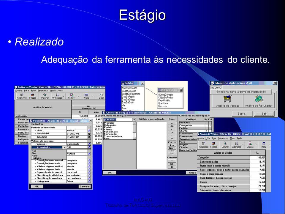 MAC 499 Trabalho de Formatura Supervisionado Estágio: Projetos e participações.