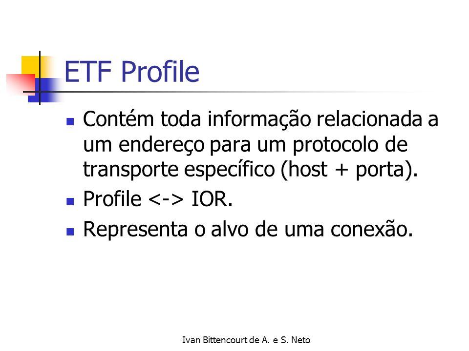 Ivan Bittencourt de A. e S. Neto ETF Profile Contém toda informação relacionada a um endereço para um protocolo de transporte específico (host + porta
