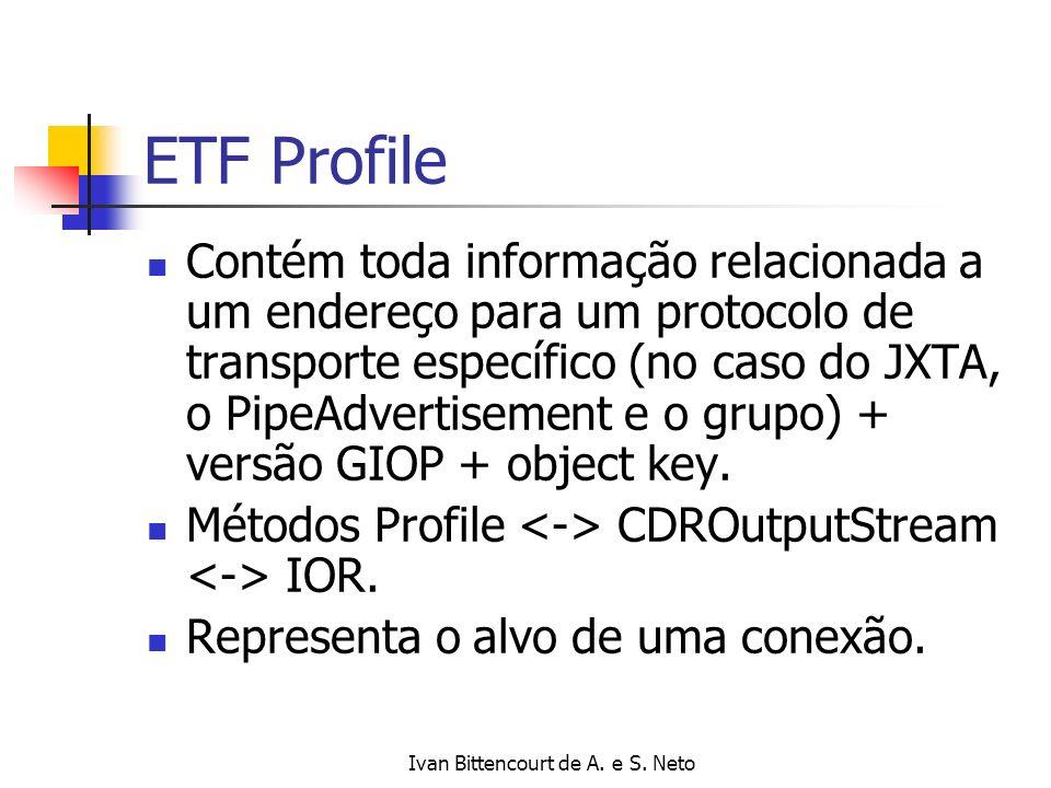 Ivan Bittencourt de A. e S. Neto ETF Profile Contém toda informação relacionada a um endereço para um protocolo de transporte específico (no caso do J