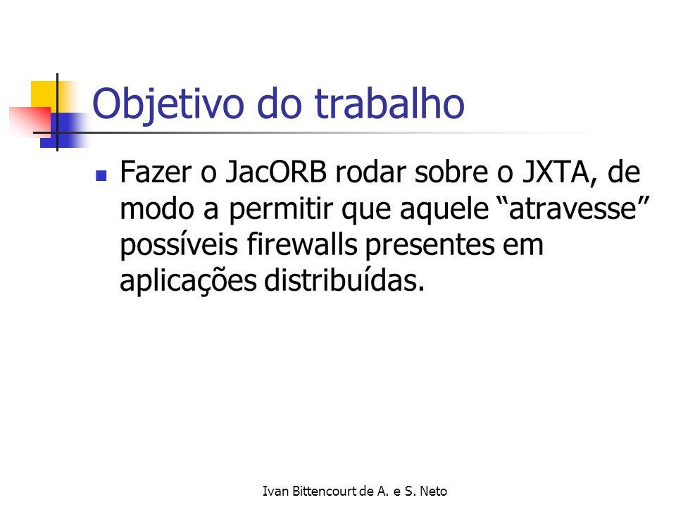 Ivan Bittencourt de A.e S. Neto O JacORB e o JXTA O JacORB: É um ORB Java; Open-source, etc.