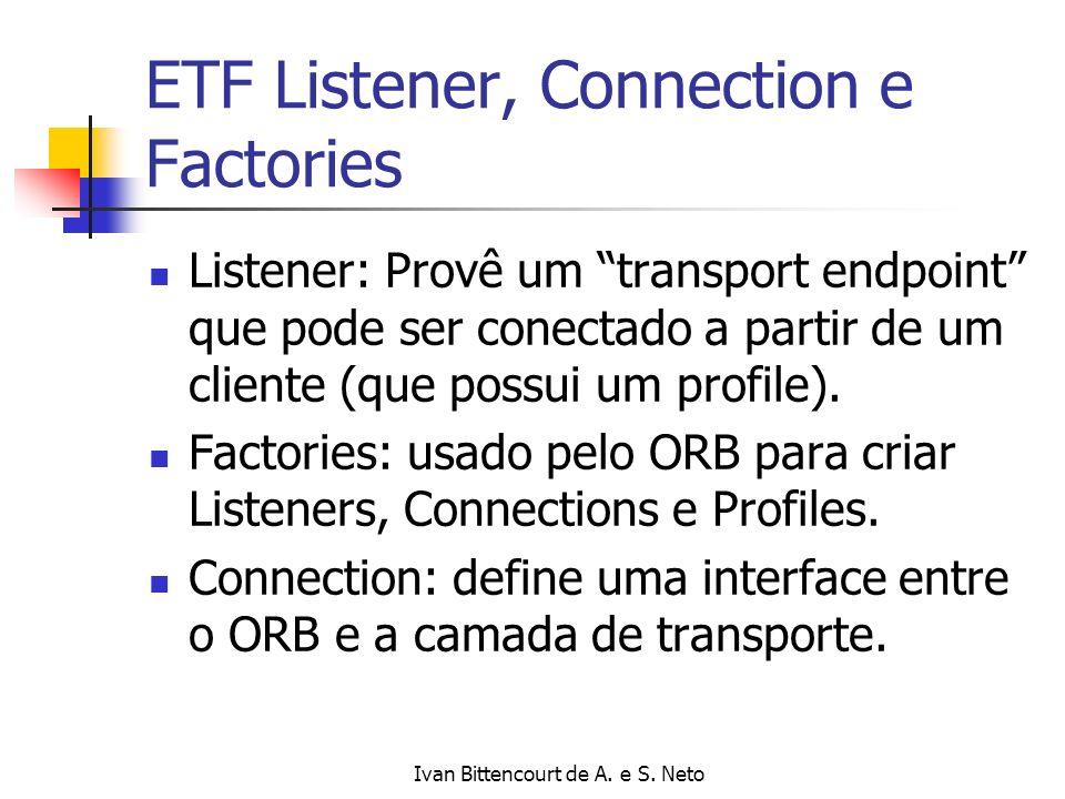 Ivan Bittencourt de A. e S. Neto ETF Listener, Connection e Factories Listener: Provê um transport endpoint que pode ser conectado a partir de um clie