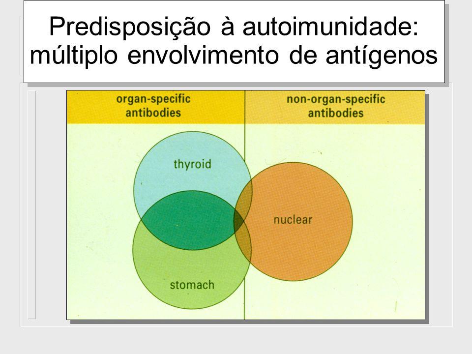 Predisposição à autoimunidade: múltiplo envolvimento de antígenos