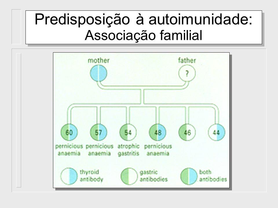 Predisposição à autoimunidade: Associação familial