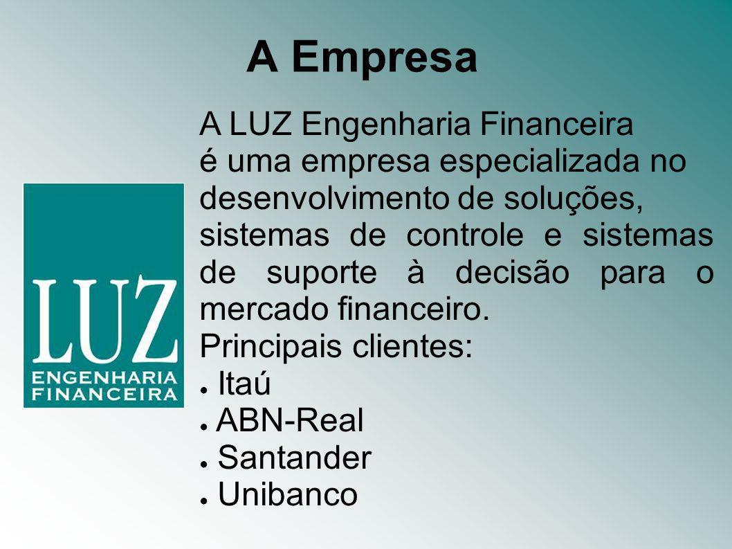 A LUZ Engenharia Financeira é uma empresa especializada no desenvolvimento de soluções, sistemas de controle e sistemas de suporte à decisão para o mercado financeiro.