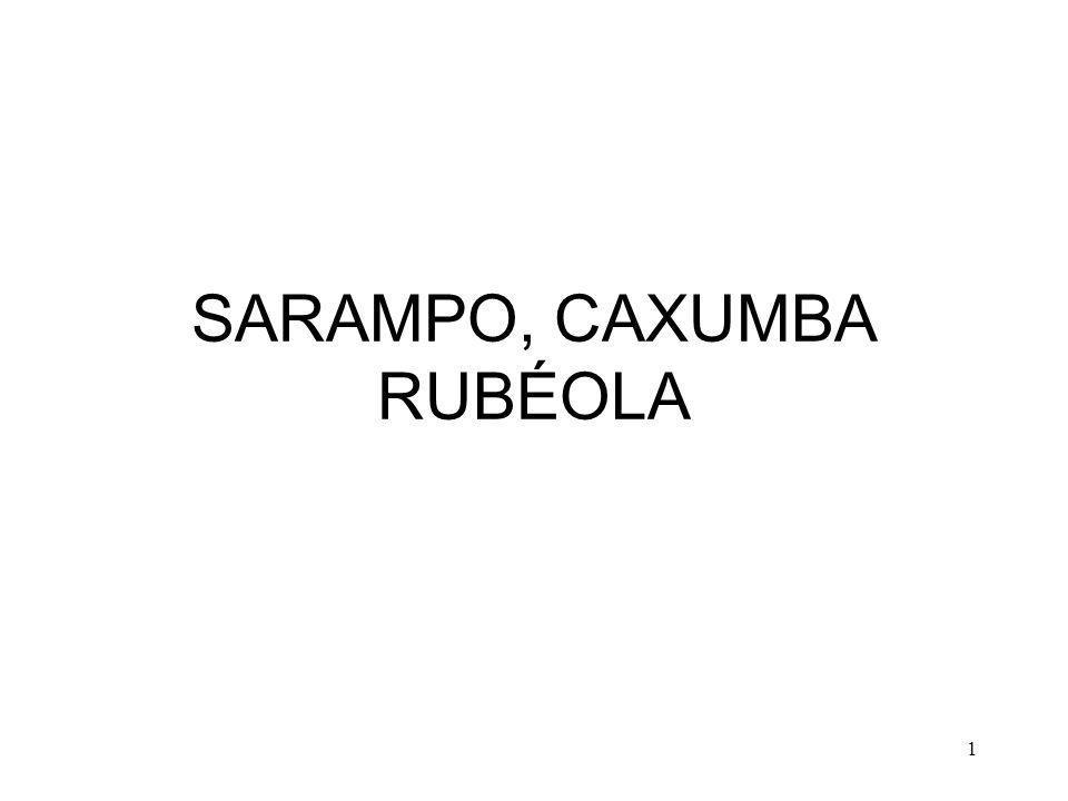 1 SARAMPO, CAXUMBA RUBÉOLA