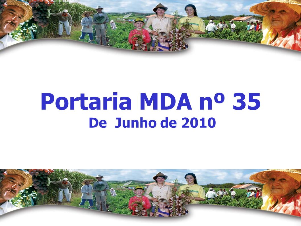 Portaria MDA nº 35 De Junho de 2010
