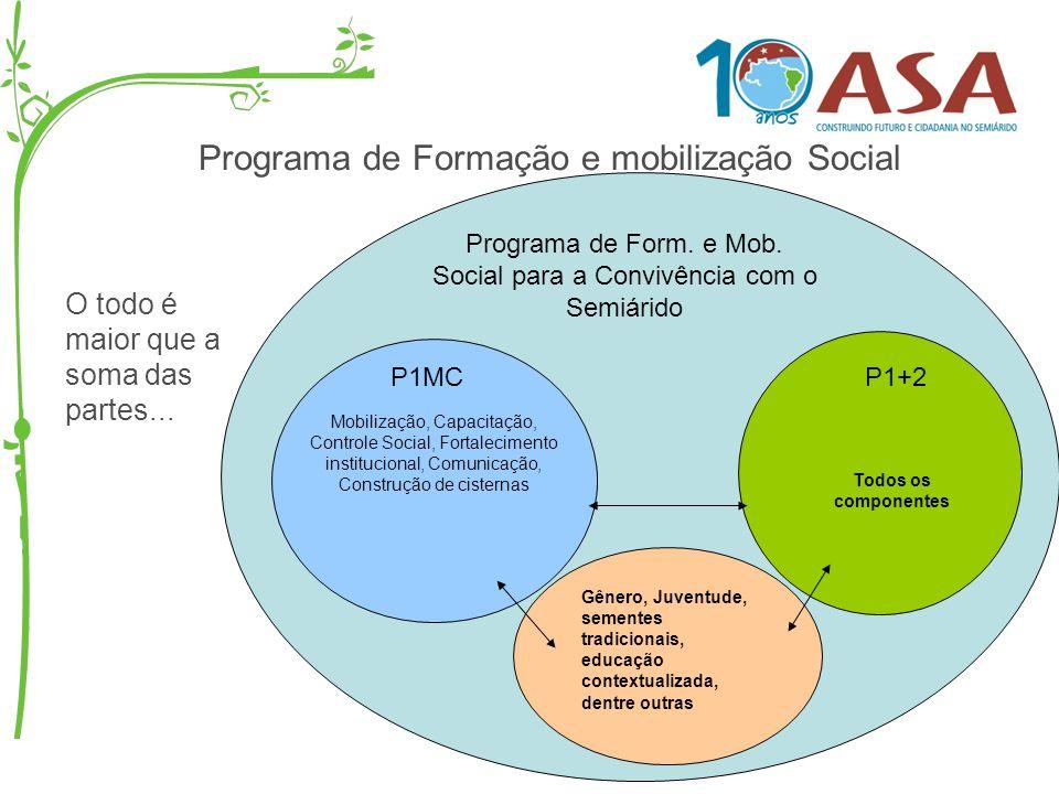 Programa de Formação e mobilização Social O todo é maior que a soma das partes... Programa de Form. e Mob. Social para a Convivência com o Semiárido P