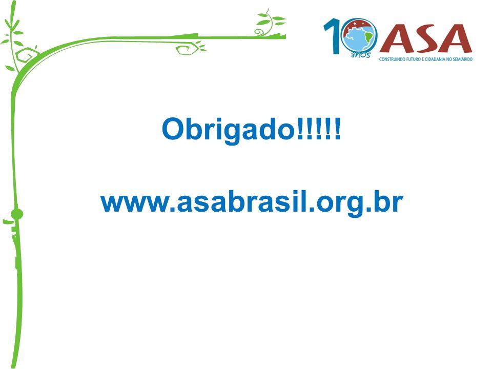 Obrigado!!!!! www.asabrasil.org.br