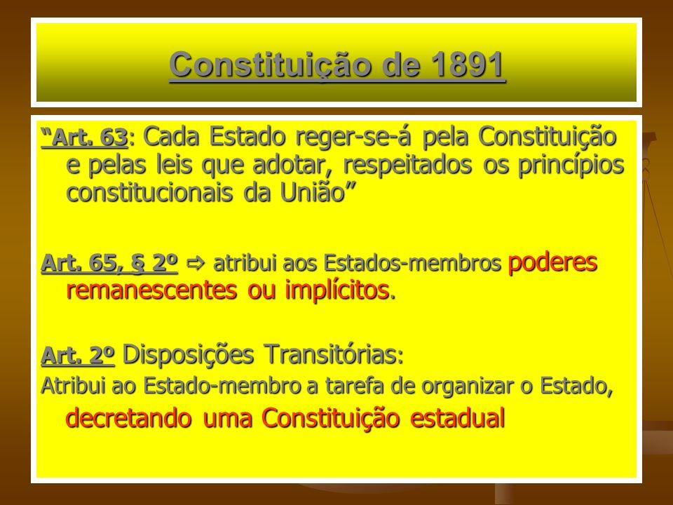 Constituição de 1891 Art.