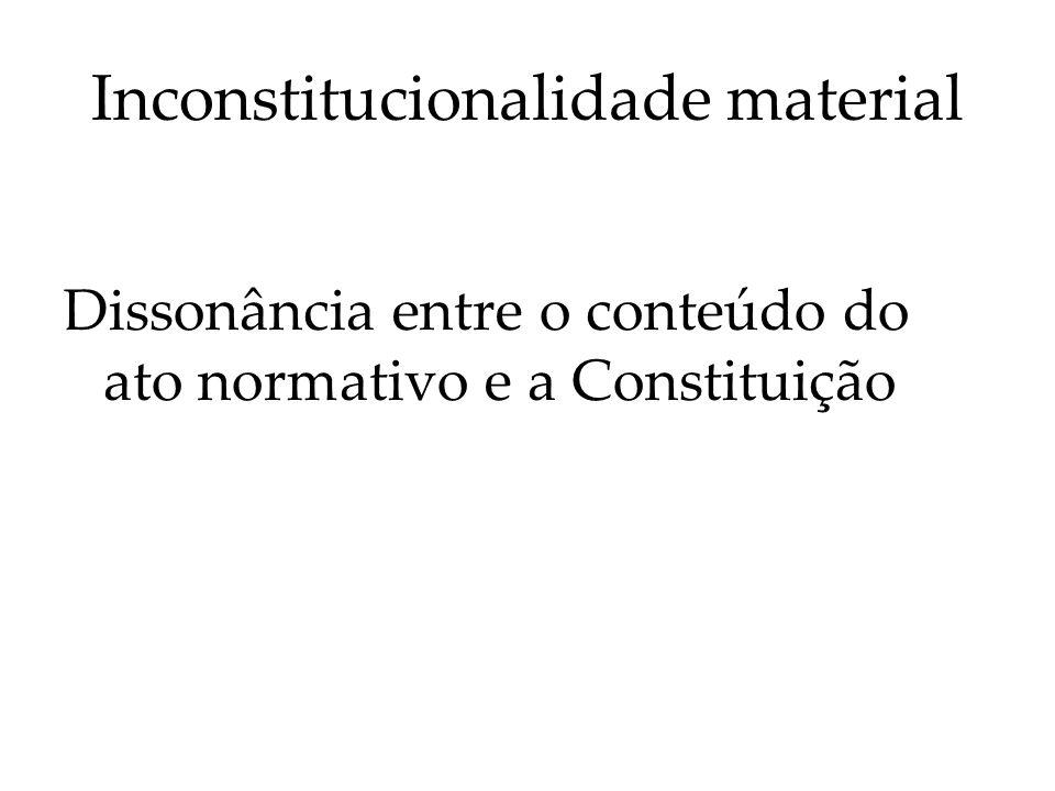 Inconstitucionalidade por ação ou omissão A omissão constitucional pode decorrer da inércia de qualquer dos Poderes do Estado.