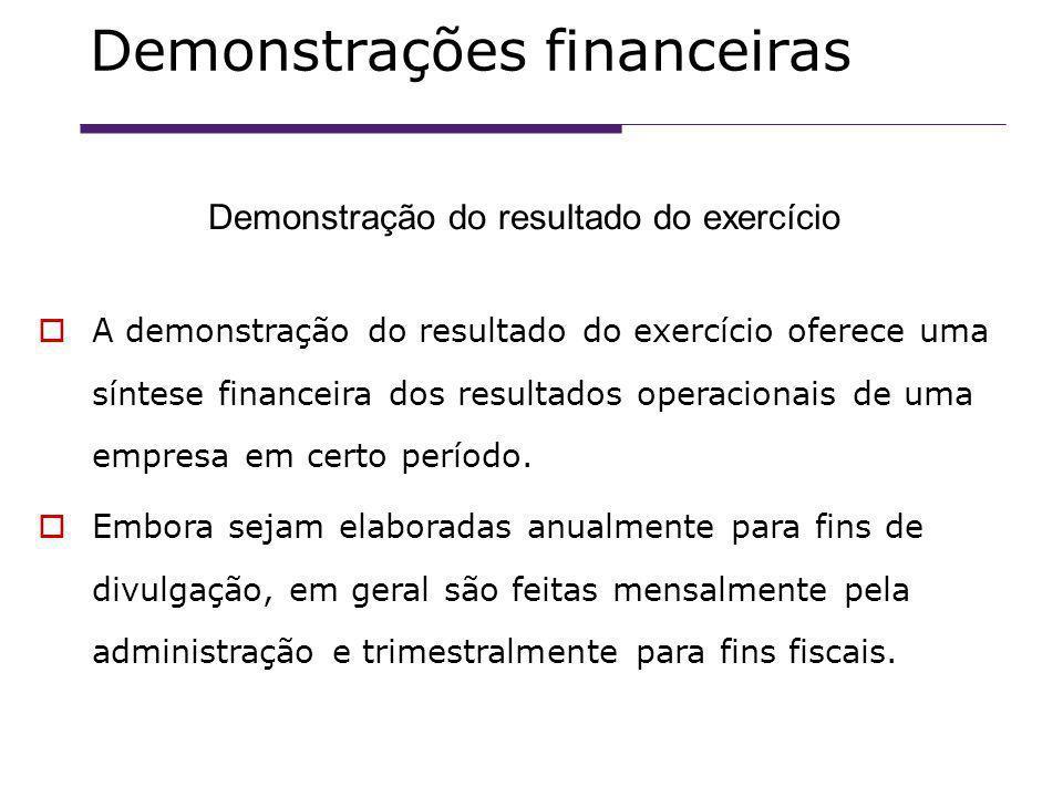 A demonstração do resultado do exercício oferece uma síntese financeira dos resultados operacionais de uma empresa em certo período.