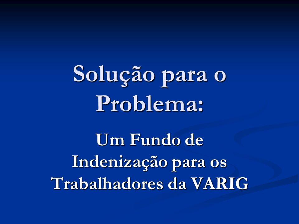 Solução para o Problema: Um Fundo de Indenização para os Trabalhadores da VARIG