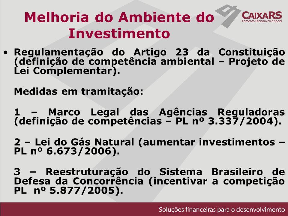Regulamentação do Artigo 23 da Constituição (definição de competência ambiental – Projeto de Lei Complementar).