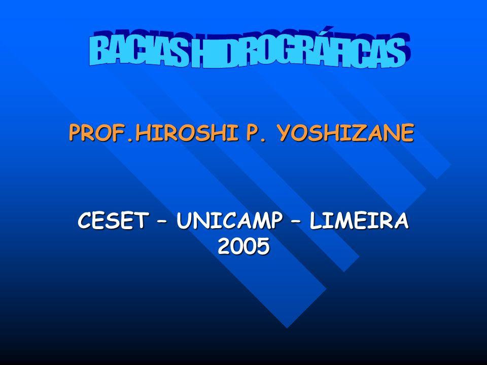 CESET – UNICAMP – LIMEIRA 2005 PROF.HIROSHI P. YOSHIZANE