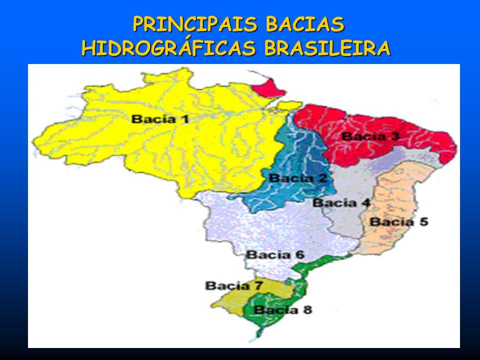 PRINCIPAIS BACIAS HIDROGRÁFICAS BRASILEIRA PRINCIPAIS BACIAS HIDROGRÁFICAS BRASILEIRA