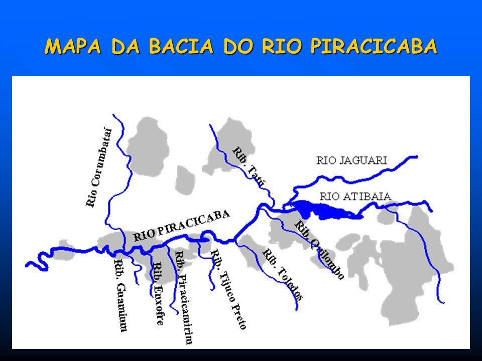 AS BACIAS HIDROGRÁFICAS DE SÃO PAULO 1.Mantiqueira 2.Paraíba do Sul 3.Litoral Norte (LN) 4.Pardo 5.Piracicaba Capivari Jundiaí 6. Alto Tietê 7.Baixada