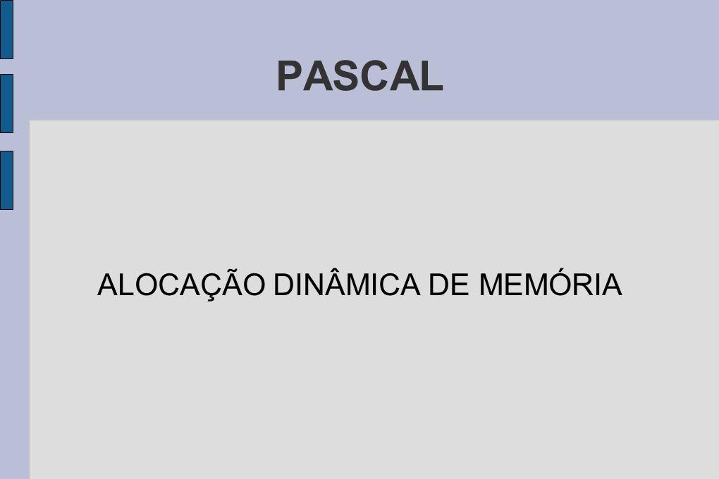 PASCAL ALOCAÇÃO DINÂMICA DE MEMÓRIA