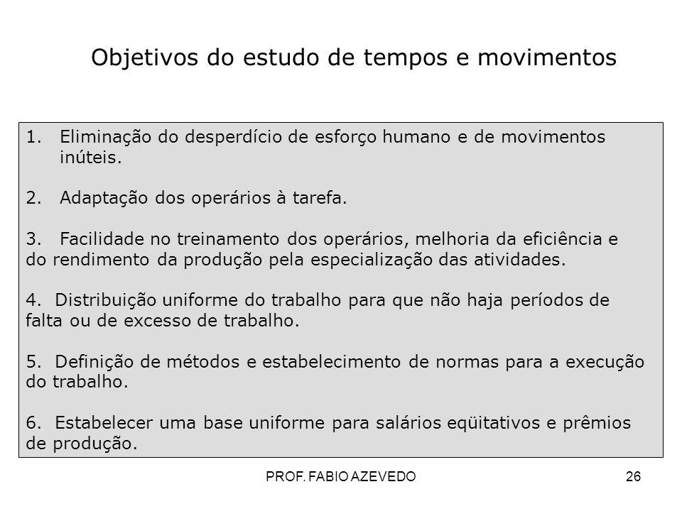26 1.Eliminação do desperdício de esforço humano e de movimentos inúteis. 2.Adaptação dos operários à tarefa. 3.Facilidade no treinamento dos operário