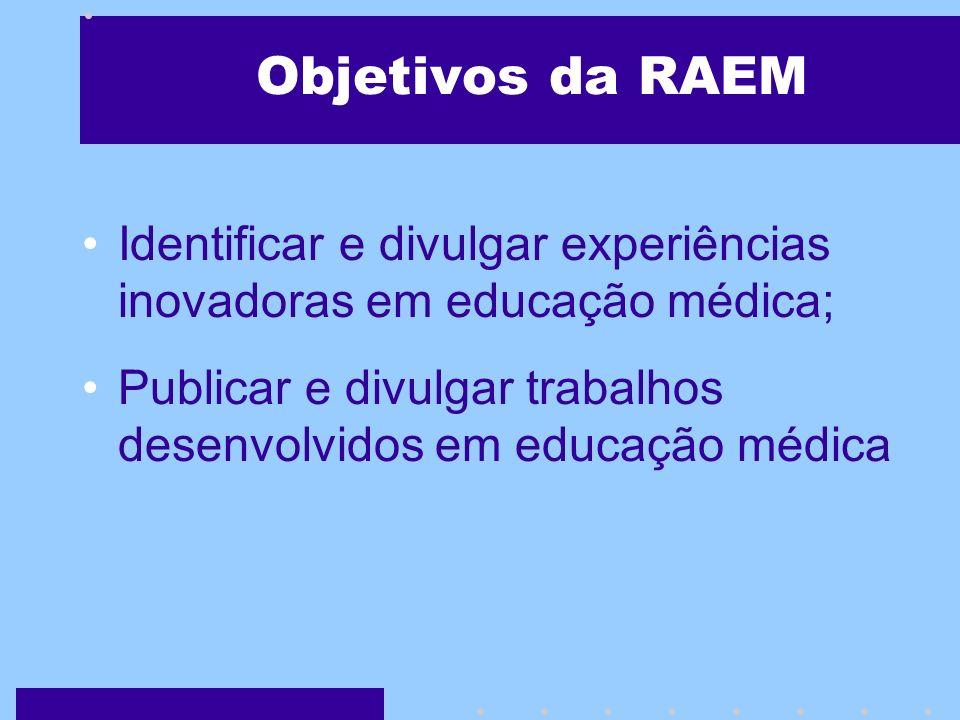 A RAEM como Objeto de Responsabilidade Social A RAEM visa promover a intercomunicação das inteligências individuais, assim, somando e compartilhando a comunidade científica para formar inteligências coletivas no meio acadêmico, potencializando a construção do conhecimento científico da Educação em Ciências da Saúde.