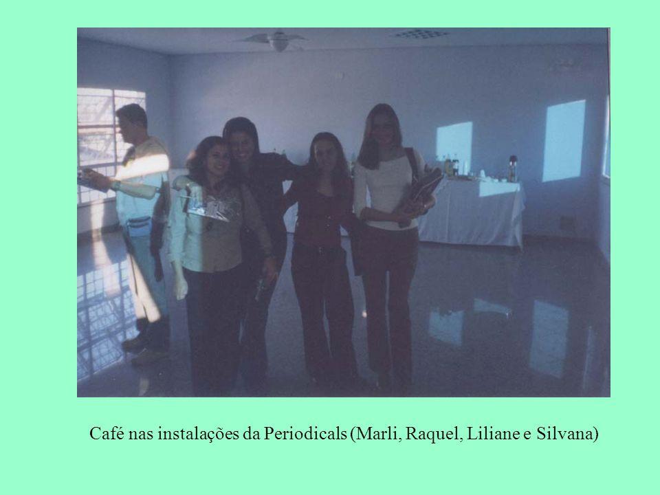Café nas instalações da Periodicals (Marli, Raquel, Liliane e Silvana)