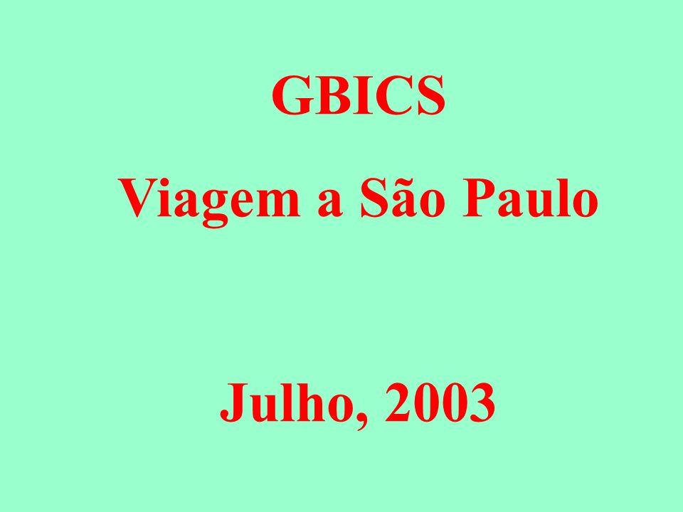 GBICS Viagem a São Paulo Julho, 2003