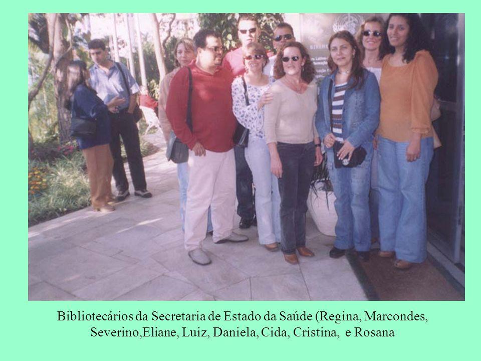 Bibliotecários da Secretaria de Estado da Saúde (Regina, Marcondes, Severino,Eliane, Luiz, Daniela, Cida, Cristina, e Rosana