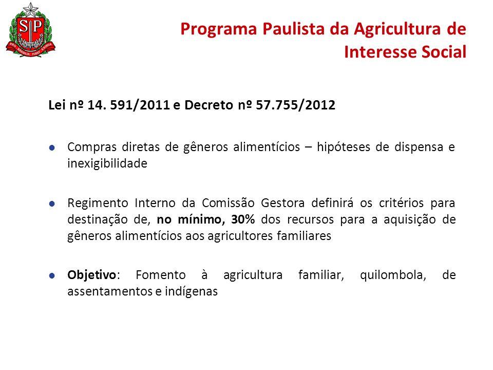 Programa Paulista da Agricultura de Interesse Social Lei nº 14.