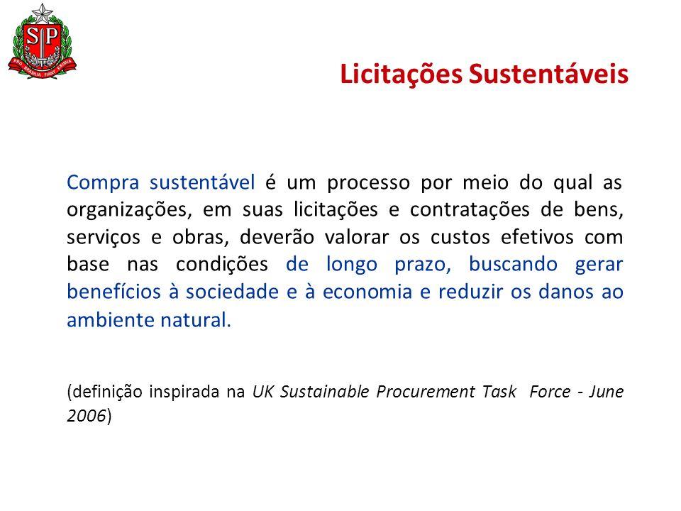 Programa Estadual de Contratações Públicas Sustentáveis 96,44% a mais que no período 2008-09