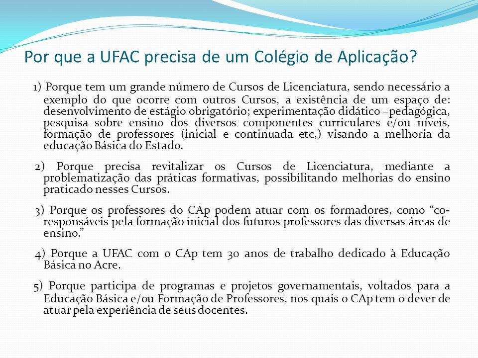 Por que a UFAC precisa de um Colégio de Aplicação.