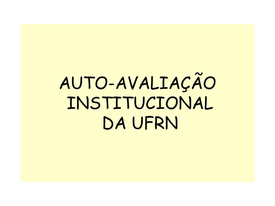 AUTO-AVALIAÇÃO INSTITUCIONAL DA UFRN