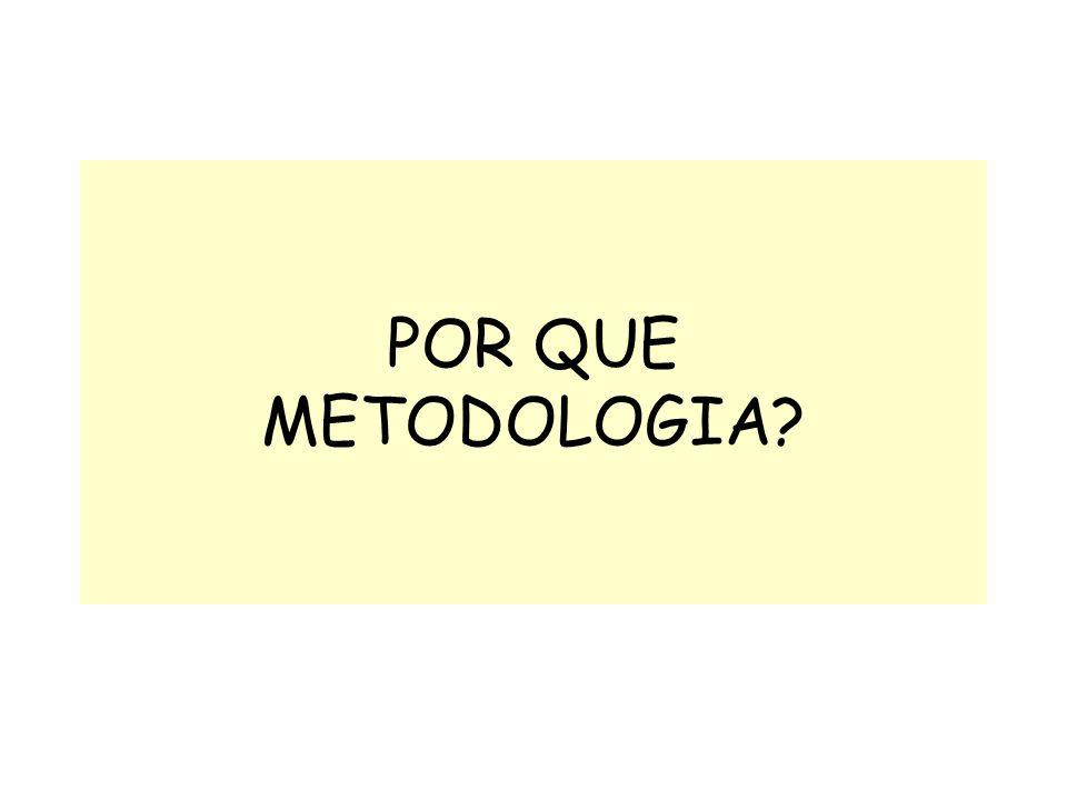 POR QUE METODOLOGIA