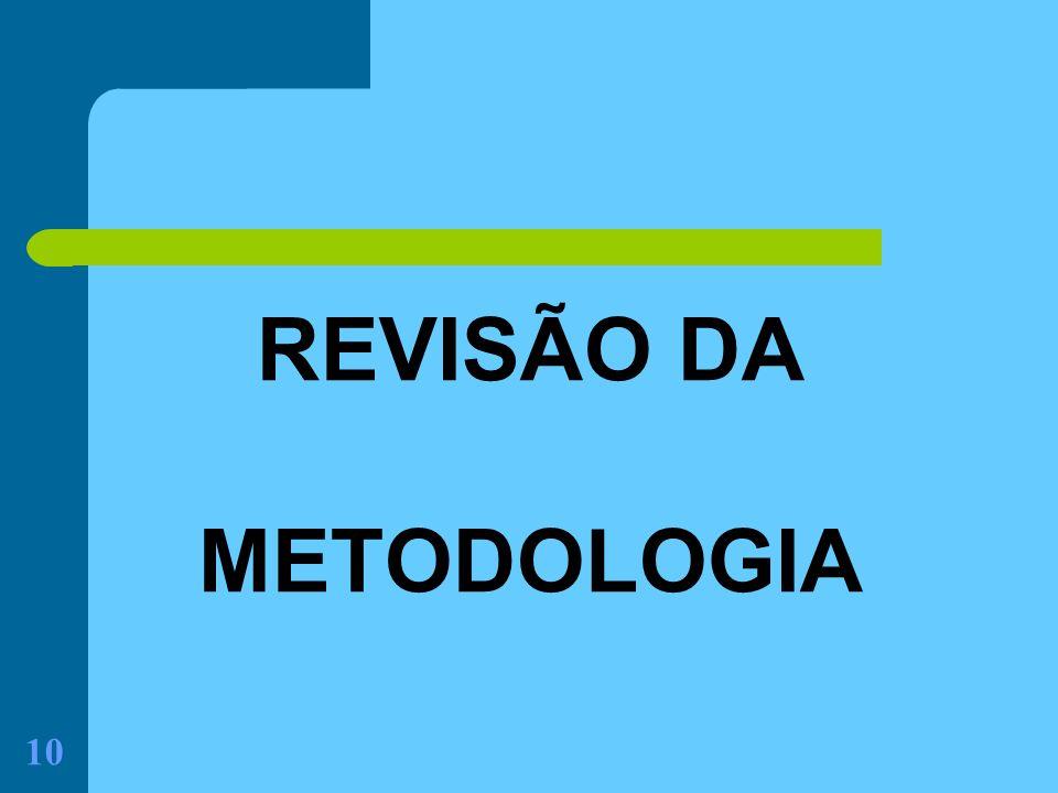 10 REVISÃO DA METODOLOGIA