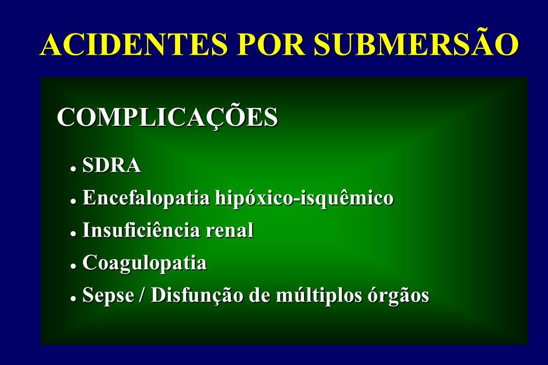 SDRA SDRA Encefalopatia hipóxico-isquêmico Encefalopatia hipóxico-isquêmico Insuficiência renal Insuficiência renal Coagulopatia Coagulopatia Sepse /