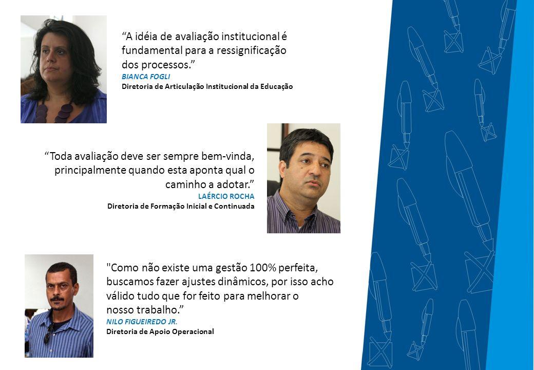 A idéia de avaliação institucional é fundamental para a ressignificação dos processos.