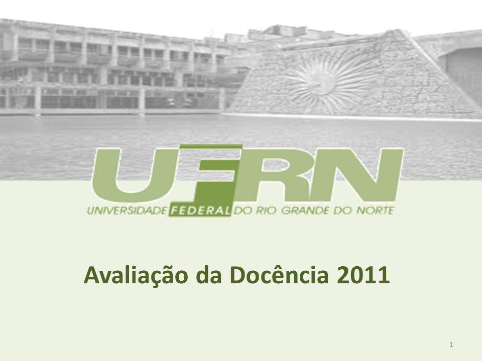 Avaliação da Docência 2011 1