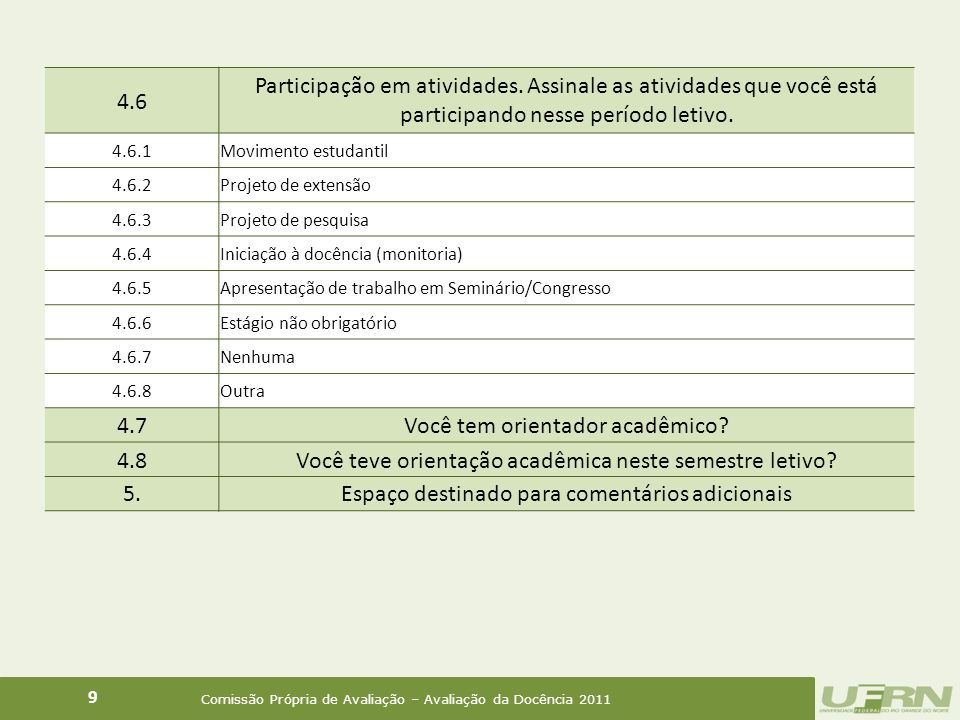 Percentual de notas atribuídas à turma pelo professor (Comparativo 2008 - 2011) 20