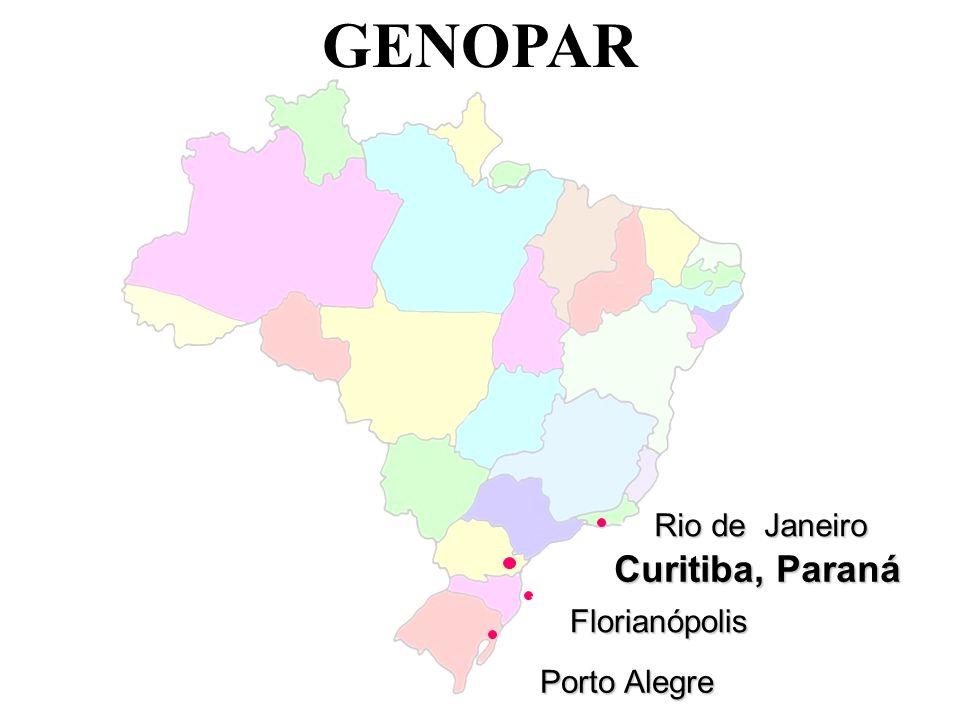 Porto Alegre GENOPAR Rio de Janeiro Florianópolis Curitiba, Paraná