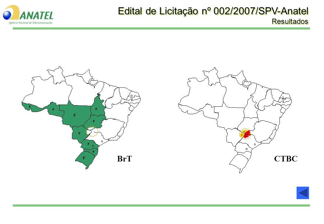 BrTCTBC Edital de Licitação nº 002/2007/SPV-Anatel Resultados