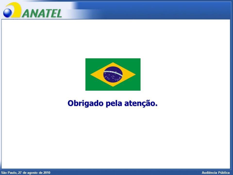 Superintendência de Radiofreqüência e Fiscalização Brasília, 12 de setembro de 2006 São Paulo, 27 de agosto de 2010 Audiência Pública Obrigado pela at