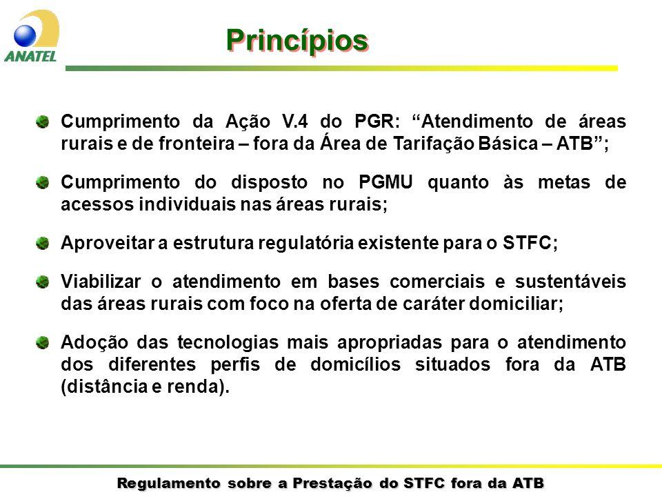 Regulamento sobre a Prestação do STFC fora da ATB Cumprimento da Ação V.4 do PGR: Atendimento de áreas rurais e de fronteira – fora da Área de Tarifaç