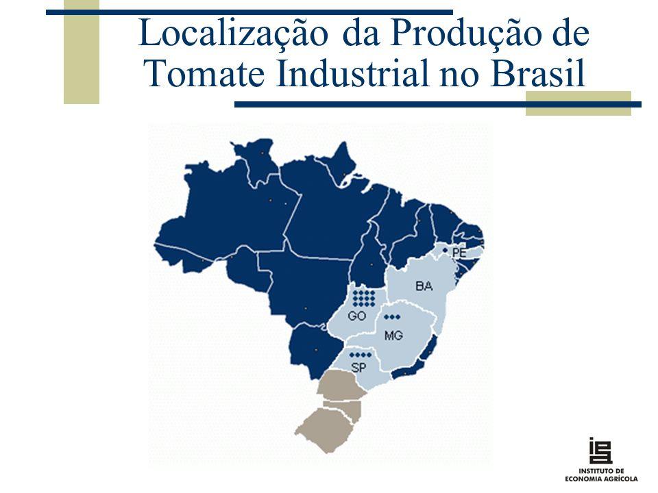 Localização da Produção de Tomate Industrial no Brasil