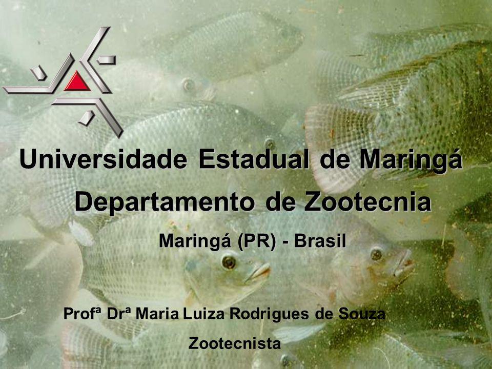 Profª Drª Maria Luiza Rodrigues de Souza Zootecnista Universidade Estadual de Maringá Departamento de Zootecnia Maringá (PR) - Brasil