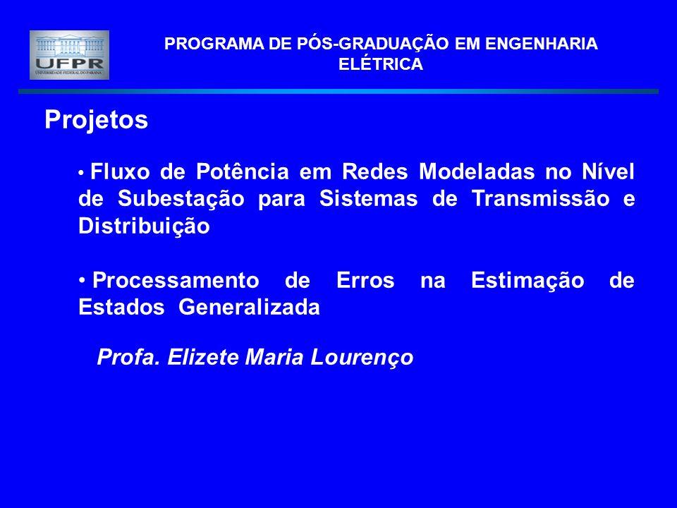 PROGRAMA DE PÓS-GRADUAÇÃO EM ENGENHARIA ELÉTRICA Projetos Fluxo de Potência em Redes Modeladas no Nível de Subestação para Sistemas de Transmissão e D