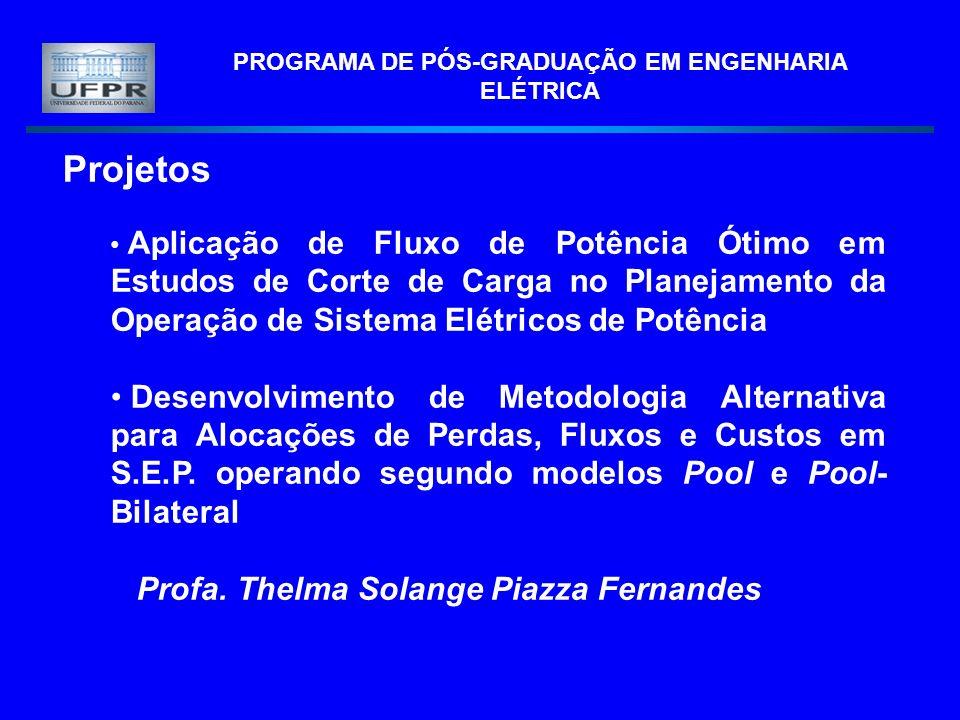 PROGRAMA DE PÓS-GRADUAÇÃO EM ENGENHARIA ELÉTRICA Projetos Aplicação de Fluxo de Potência Ótimo em Estudos de Corte de Carga no Planejamento da Operaçã