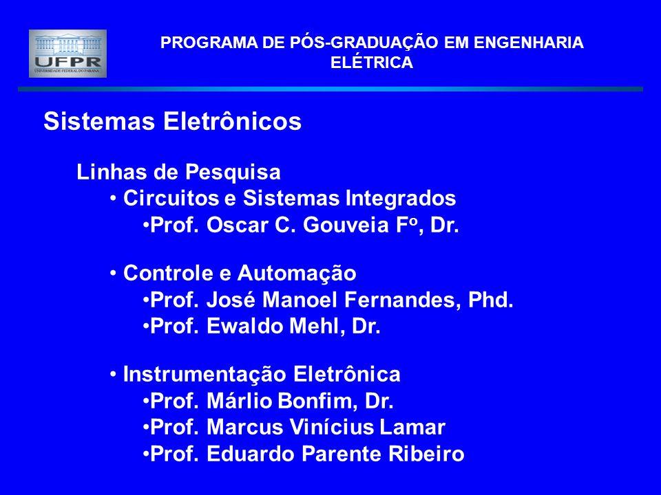 PROGRAMA DE PÓS-GRADUAÇÃO EM ENGENHARIA ELÉTRICA Sistemas Eletrônicos Linhas de Pesquisa Circuitos e Sistemas Integrados Prof. Oscar C. Gouveia F o, D