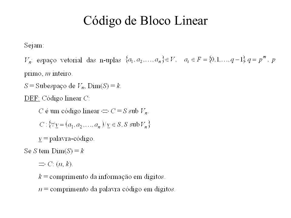 Código de Bloco Linear