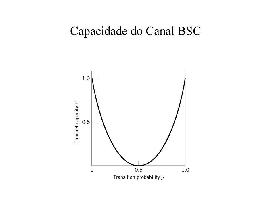 Capacidade de Canal A capacidade de canal não é somente uma propriedade de um canal físico particular.